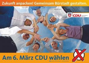 Plakat CDU Bürstadt 2016