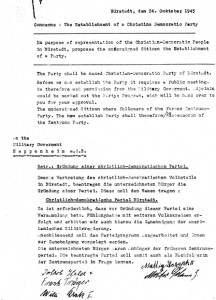 Gründungsdokument CDU Bürstadt